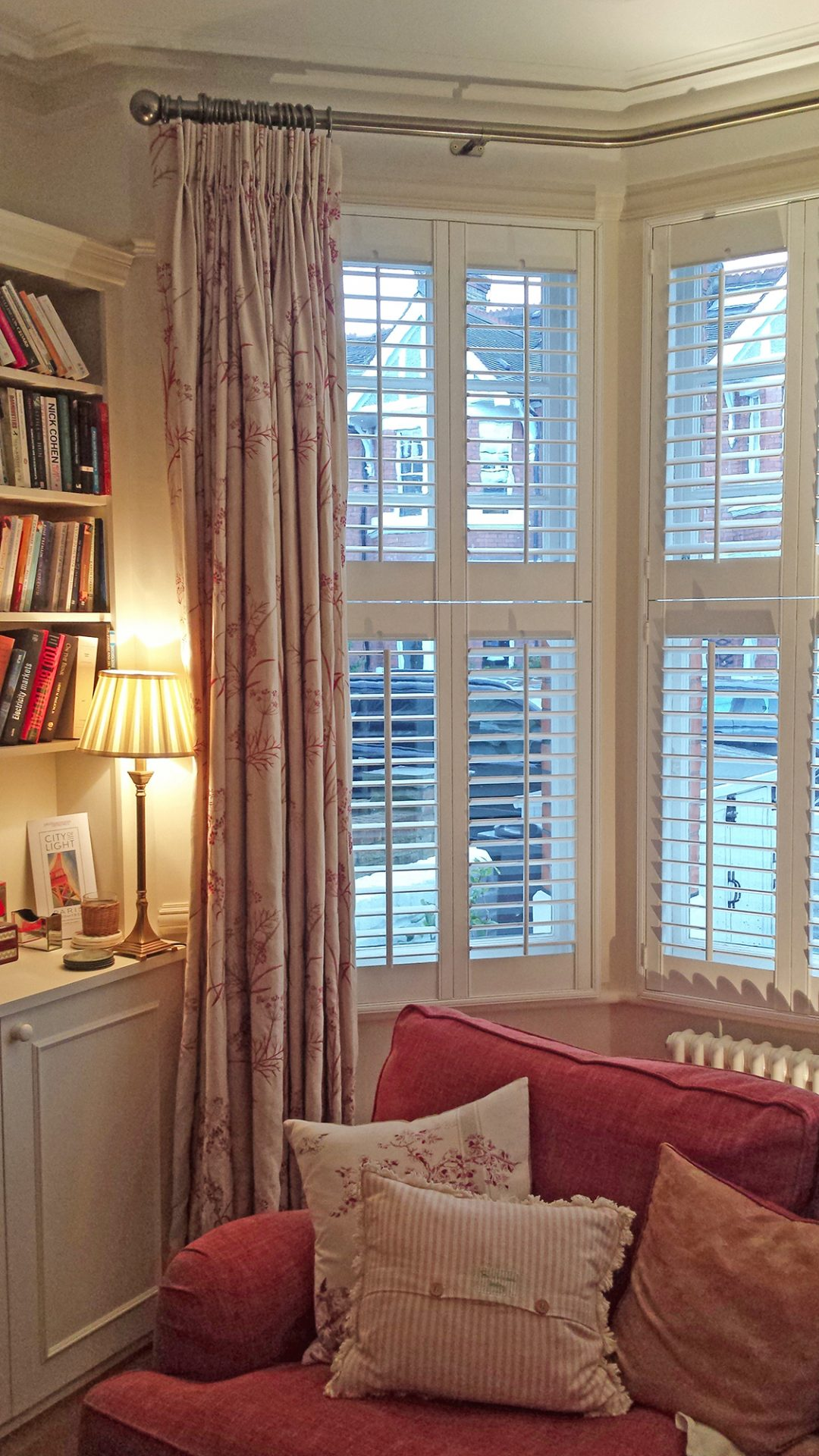 Bay Window With Curtains Tier On Tier Shutters Total