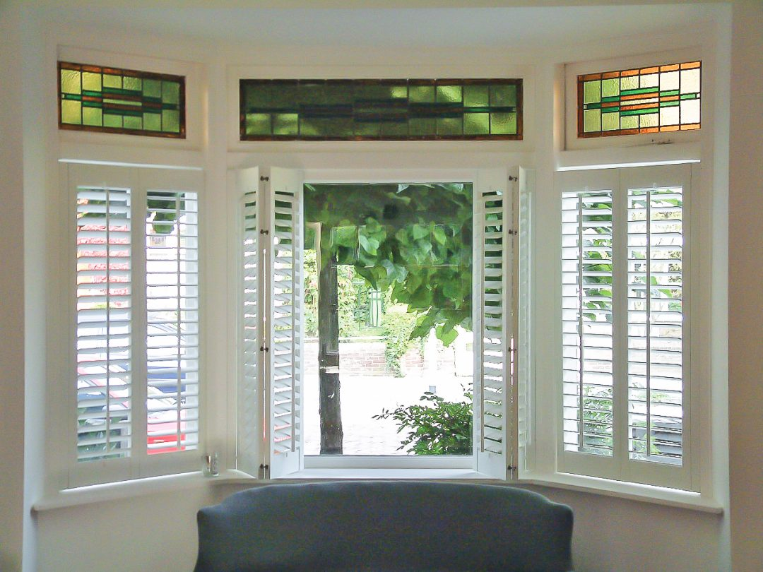 Three Sided Bay Window Shutters Total Window Shutters